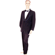 Men's, Early 1960's, Palm Beach Formal Wear, Black Tuxedo