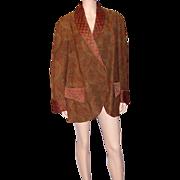 Men's Victorian Era-Paisley Jacket with Satin Trim
