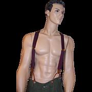 SOLD Men's Dooney Bourke, Navy & Russet Red Suspenders