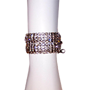 """Clear Rhinestone Bracelet with Safety Chain by """"Weiss"""""""