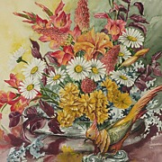 Still life watercolor painting by American artist Dorothy Davis Jones