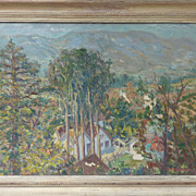 California plein air art landscape oil painting by listed artist Werner Seeholzer (1904- 1978)