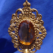 Vintage 24K Gold plated perfume bottle by Globe