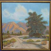 California plein air art landscape oil painting signed