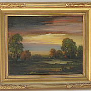 California landscape oil painting by listed artist Lionel Louis Edwards ( 1874-1954)