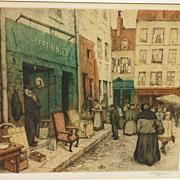 Fine aquatint etching by the noted Czech artist Tavik Frantisek Simon (1877- 1942)