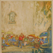 SOLD Daniel Sayre Groesbeck (1878- 1950) pencil signed monotype print  California listed artis