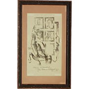 SOLD Chaim Gross (1904-1991) pencil signed lithograph