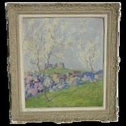 Eugene Brouillard (1870 - 1950) spring landscape painting by French Post - Impressionist artis