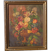Dorothy Kimball American artist floral still life oil on canvas painting signed