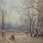 English signed 19th Century watercolor landscape painting by William Manners (1860-1930)