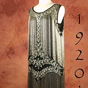 SOLD AMAZING Beaded Flapper dress, 1920's