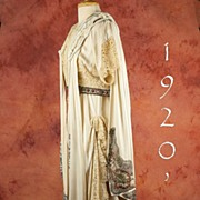 SOLD French Silk & Lace Dress & Cape  Beaded  Masterpiece, ca 1920