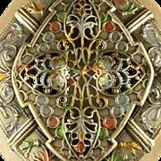 SALE Stunning Art Nouveau Belt Buckle Large