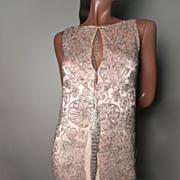SOLD 1920's Beaded Dress Pink Silk Satin