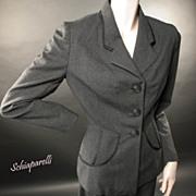 SOLD Schiaparelli Suit  Late 1940's Classic & Exceptional