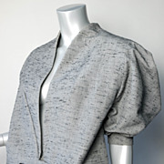 1940's Paris Custom Made Silk Shantung Suit