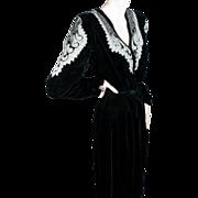 SOLD 1930's Beaded Black Velvet Gown