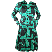 1970's Pauline Trigère Silk Dress