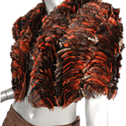 SOLD 1980's Christian Dior for Saks Fifth Avenue Paris New York Feathered Bolero Jacket