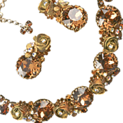 Hattie Carnegie 1960's Necklace Earrings Unsigned