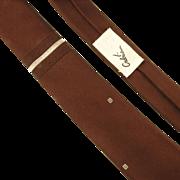 SALE Gilbert Adrian 1950's Silk Tie Aged Burgundy Unworn
