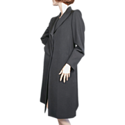 SALE 1990's Costume National Italy Black Laine Wool Coat