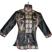 SALE 1930's Chinese Embroidered Jacket Handmade