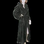 SALE 1930s 1940s Velvet Opera Coat Sublime Style Detail