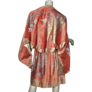 SOLD 1920's Wrap Fortuny Stencilled Velvet Italy
