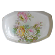 SALE Romantic Rose Covered Porcelain Vanity Tray