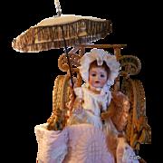 SALE Antique Victorian Doll Carriage Parasol