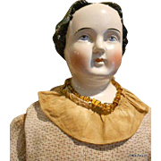 "Huge 32"" Early Kestner China head Doll With Civil War Dress!!!"