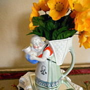 SALE Sweet German or French Porcelain Pitcher