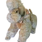 REDUCED Large Vintage German Mohair Poodle Dog