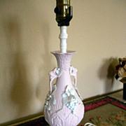 SALE Pink Jasperware Vintage Grape Lamp