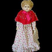 Adorable Antique Paper Mache Doll with Antique Clothes