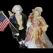 Emma Clear George and Martha Washington Dolls