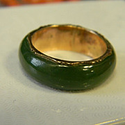 Vintage 14k Jade Ring