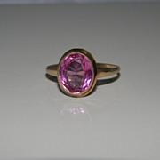 Sweet 10K Gold Pinkish Purple Ring