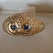 18k Sapphire Owl Ring