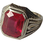 10k Deco Ruby Ring