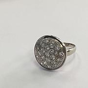 14k Diamond Disc Ring