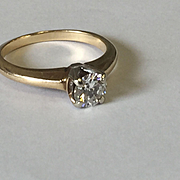 14k 1/2ct Brilliant Cut Solitaire Diamond Ring