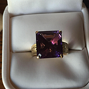 Large 18k Amethyst Ring