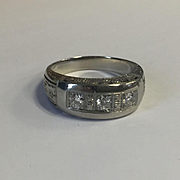 14k Old Cut Diamond Band