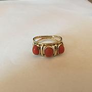 SALE 14k Carlos Diaz Coral Ring