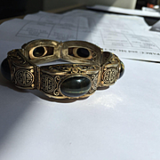 Asian Silver Chrysoberyl, Tiger Eye, Hawk Eye??? Bracelet