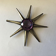 Huge Sterling Alexandrite Star Pendant
