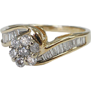 SALE Certified 14 Karat Gold Engagement Ring with 0.92 carat Diamonds Size 7.5 Appraisal Certi